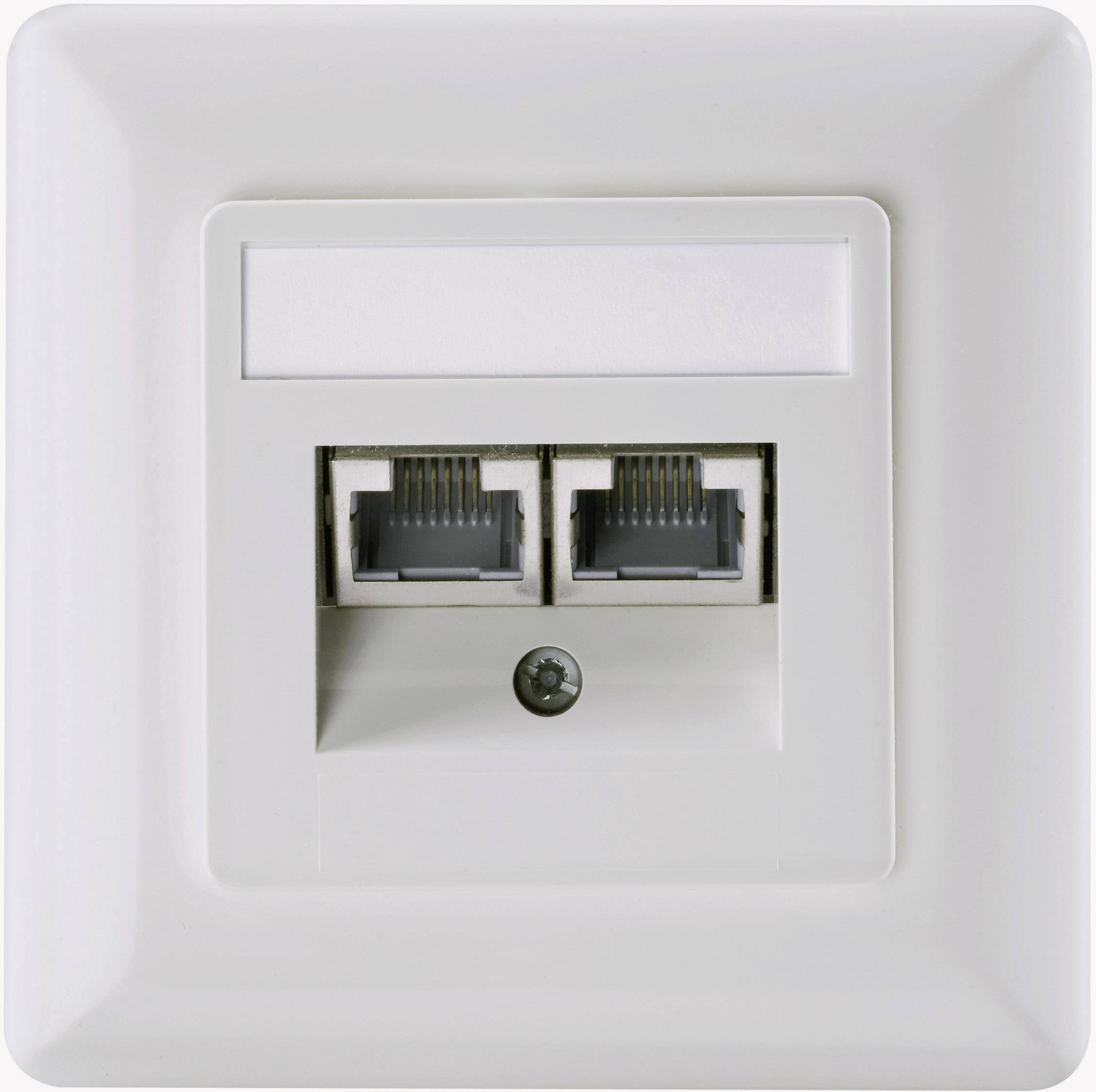 Sieťová zásuvka pod omietku Setec 604697, CAT 6, perlovo biela