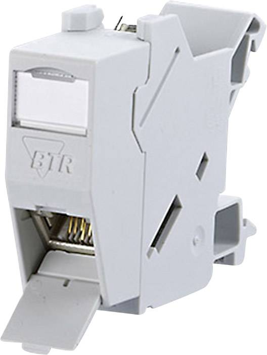 Síťová zásuvka na DIN lištu BTR Netcom, 1309426003-E, CAT 6