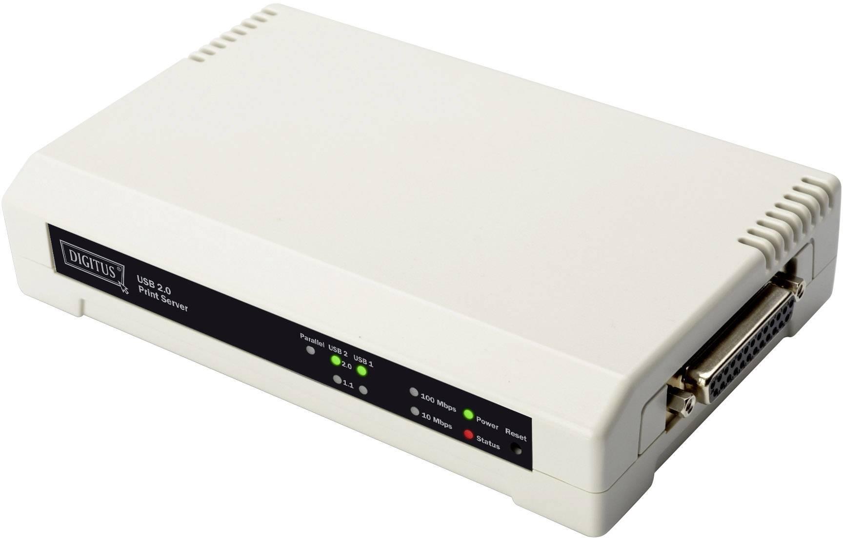 Print server Digitus, DN-13006-W, 100 MBit/s, 3x port