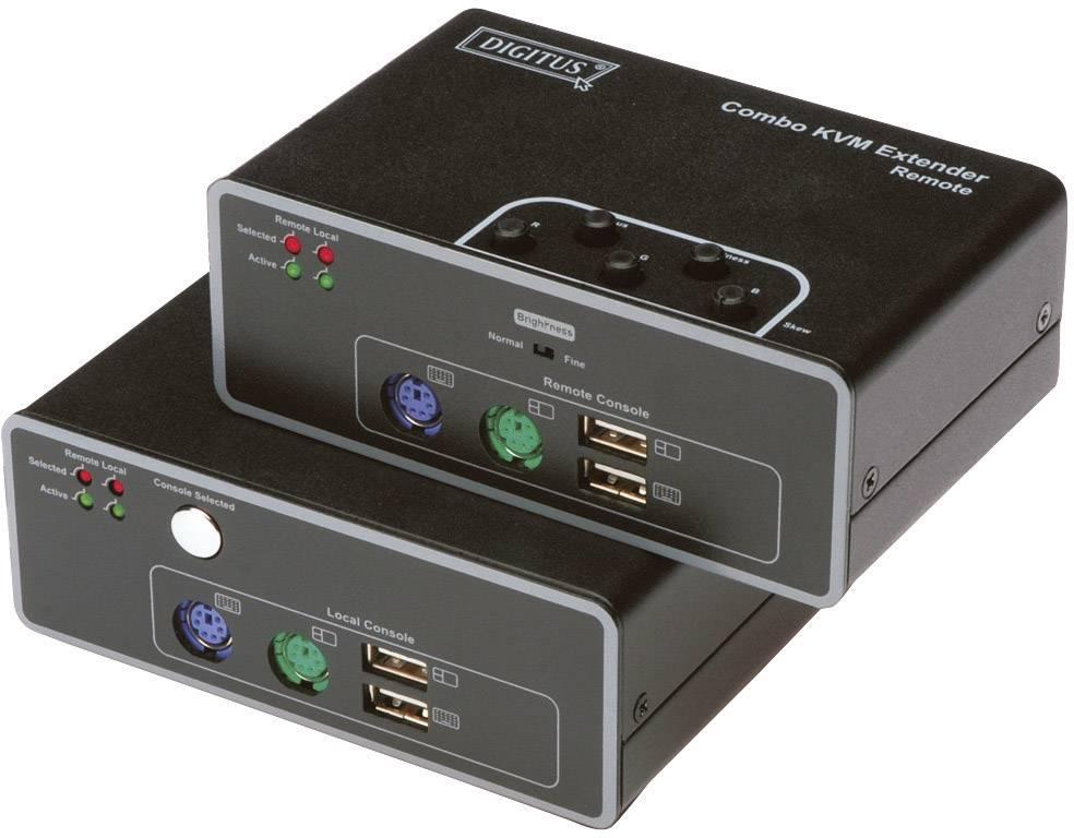 VGA, PS/2, USB 2.0 extender (predĺženie) cez sieťový kábel RJ45, Digitus DS-51110, 200 m, N/A