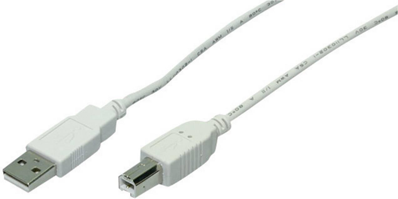 USB 2.0 kábel Goobay 1.8 m, sivá