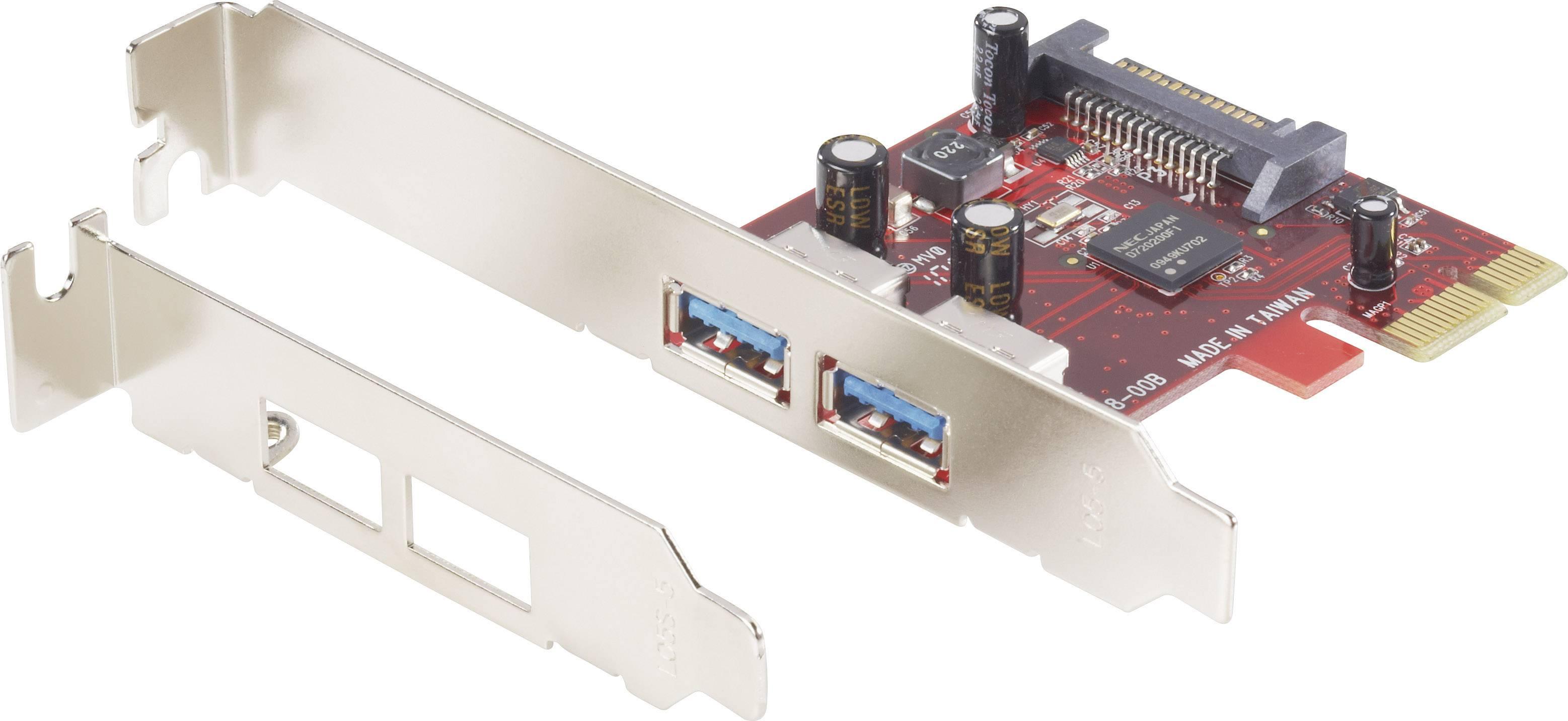 PCIe karta USB 3.0 Renkforce RF-4842576, 2 porty