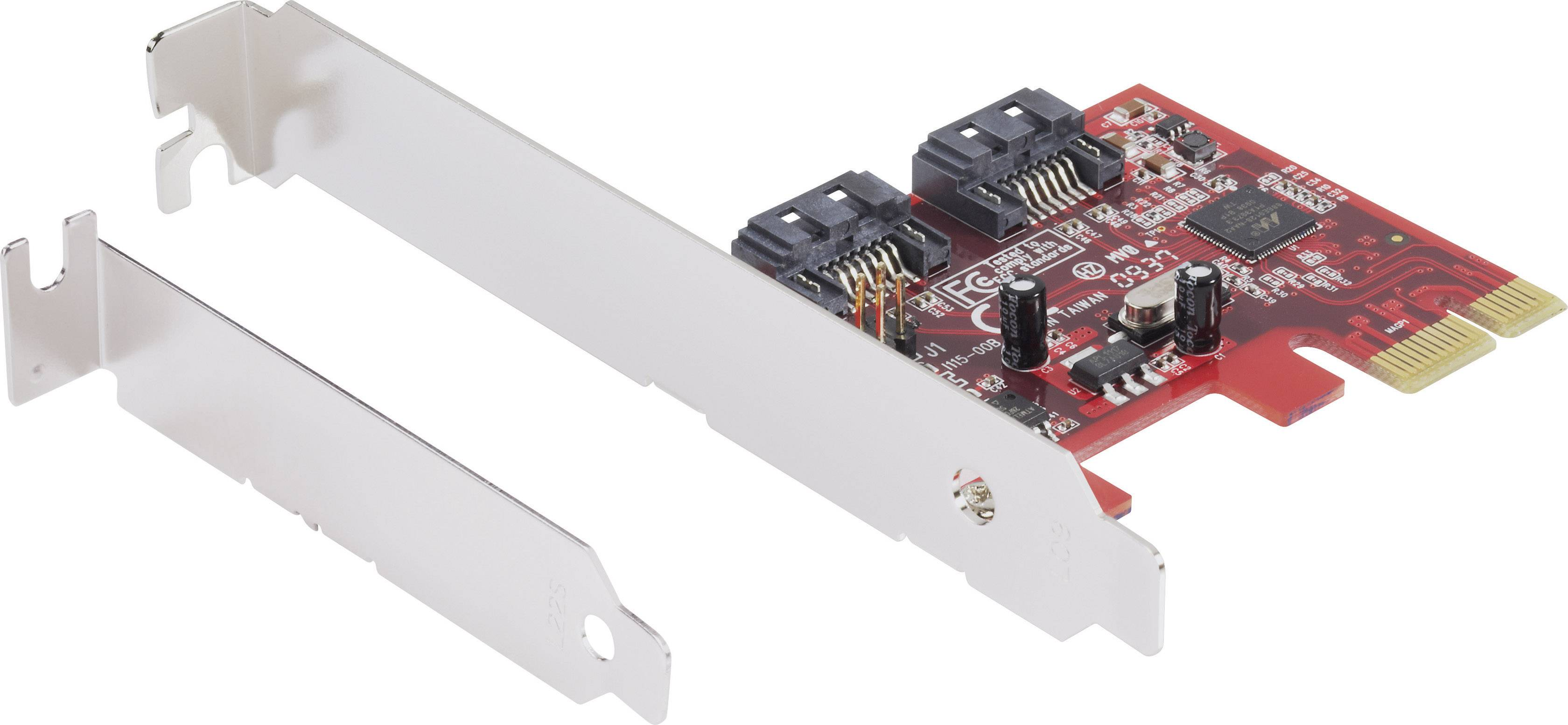 0 + 2 porty kontrolní karta SATA III PCIe Renkforce