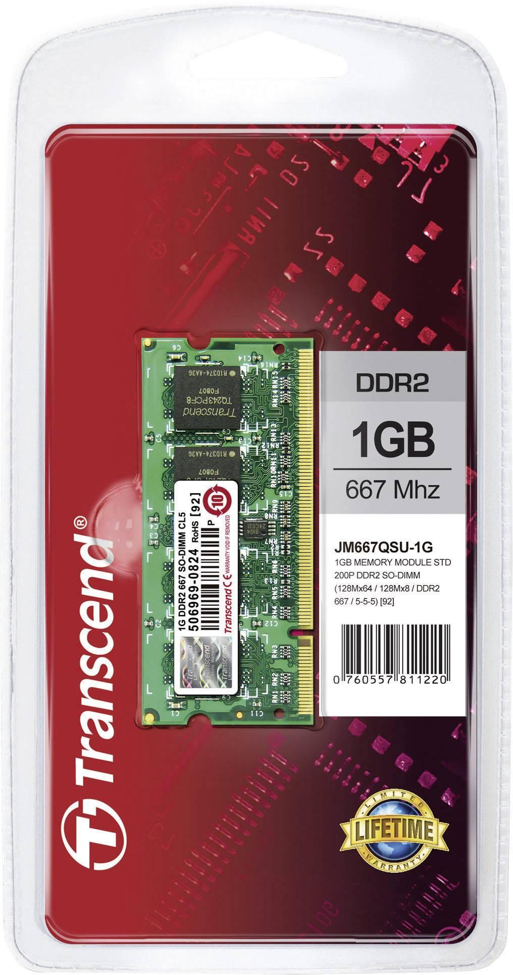 Karta Transcend 1GB SO-DIMM DDR2-RAM-667MHZ