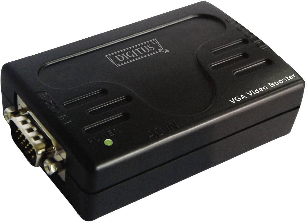 VGA extender (predĺženie) cez signálové vedenie, Digitus DS-53900-1, 65 m, N/A