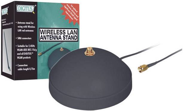 Základna s kabelem pro Wi-Fi anténu, RP-SMA, Digitus DN-70106