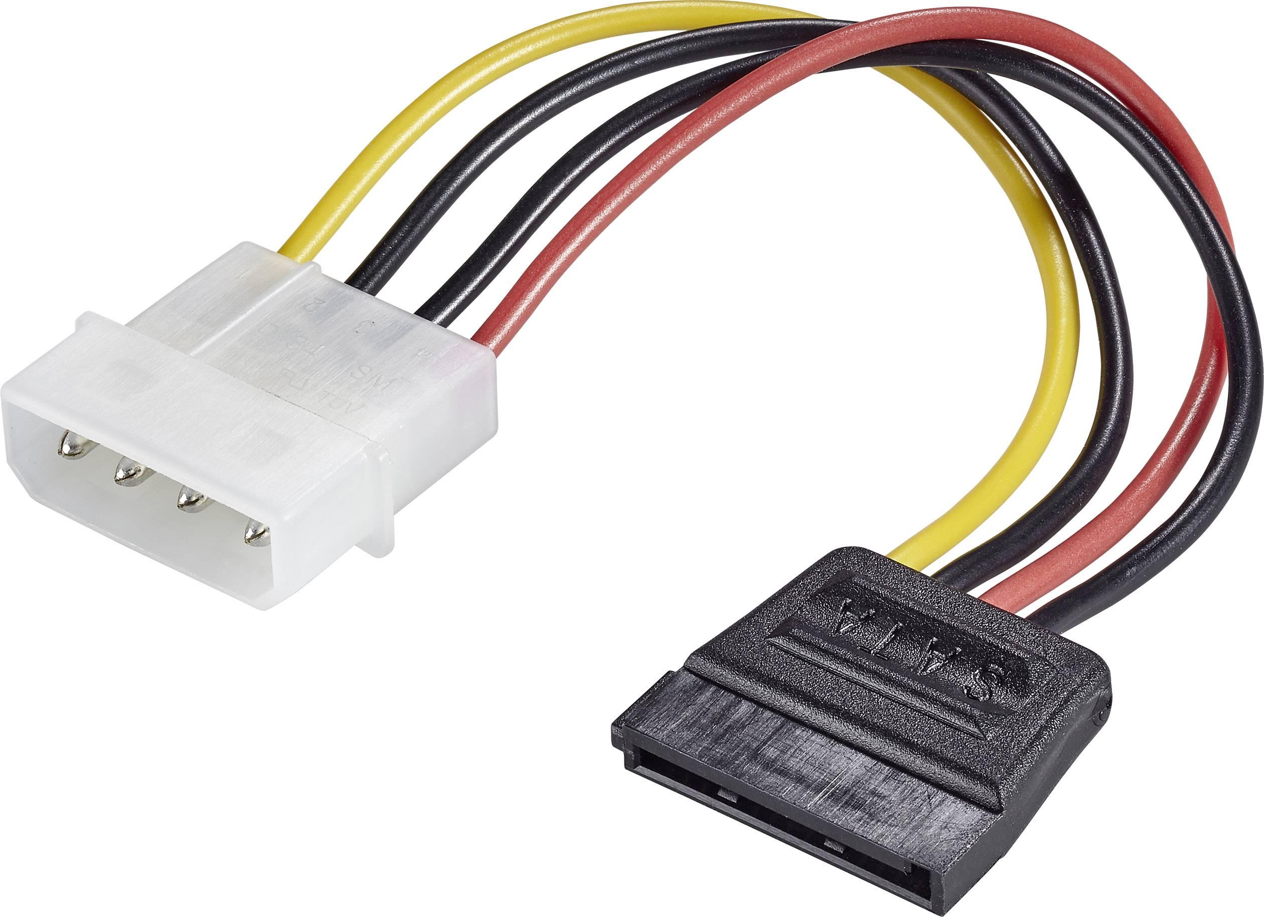 IDE, SATA adaptér Renkforce RF-4174632, čierna, červená, žltá