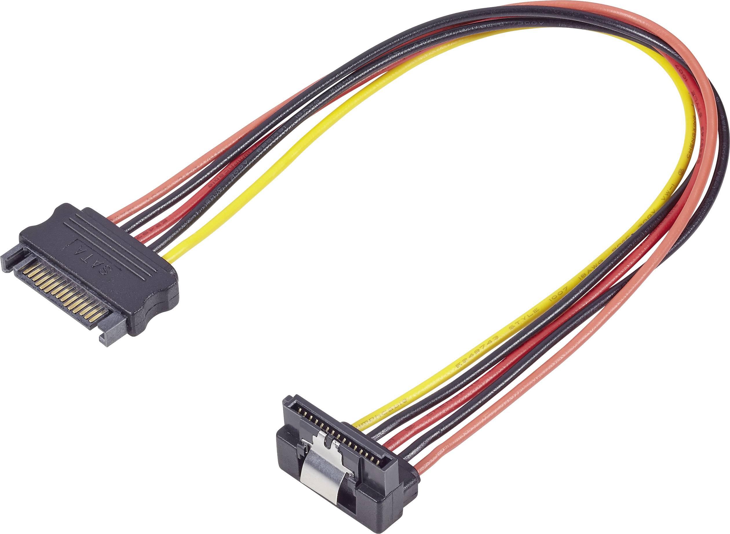Napájací predlžovací kábel RENKFORCE 1x SATA zástrčka 15pol. 30 cm