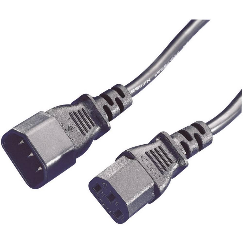 prodlu ovac iec kabel z str ka c14 z suvka c13 ern 1 8 m. Black Bedroom Furniture Sets. Home Design Ideas