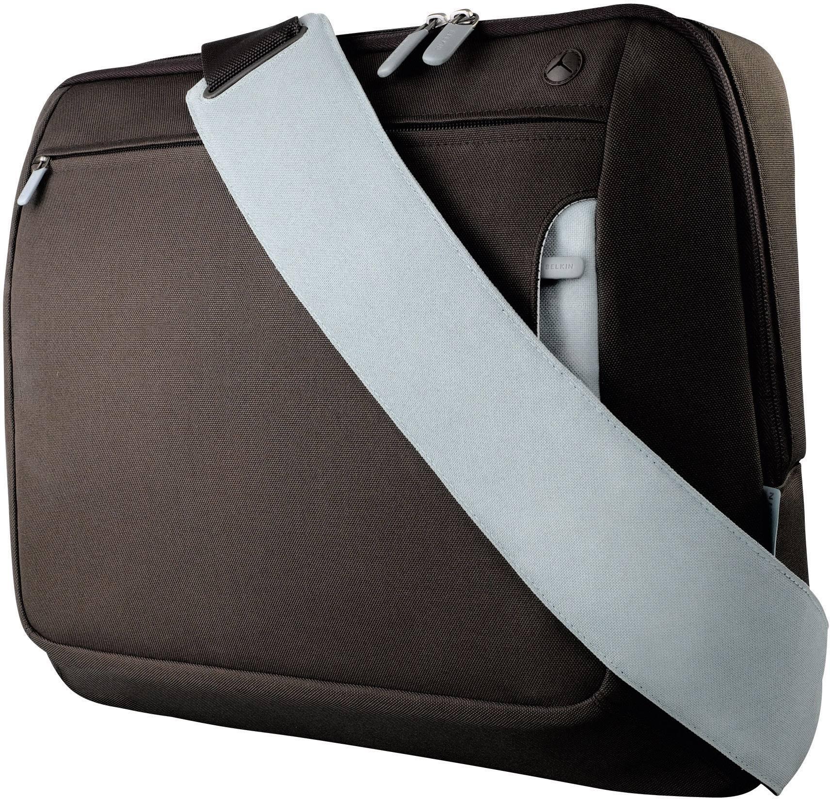 """Taška na notebook Belkin Kurier F8N051eaRL s max.veľkosťou: 43,2 cm (17"""") , hnedá, svetlomodrá"""