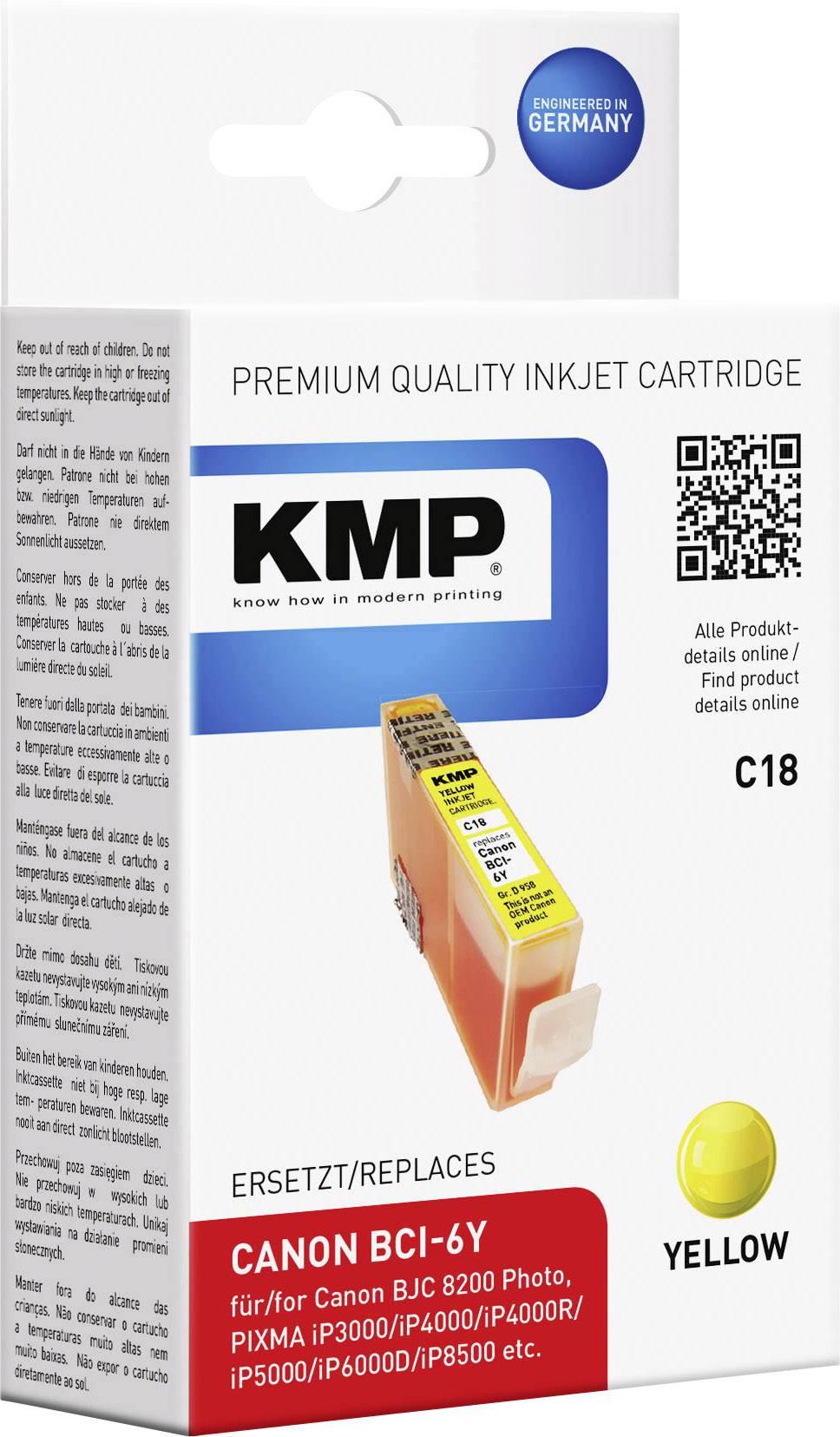 Ink náplň do tlačiarne KMP C18 0958,0009, kompatibilná, žltá