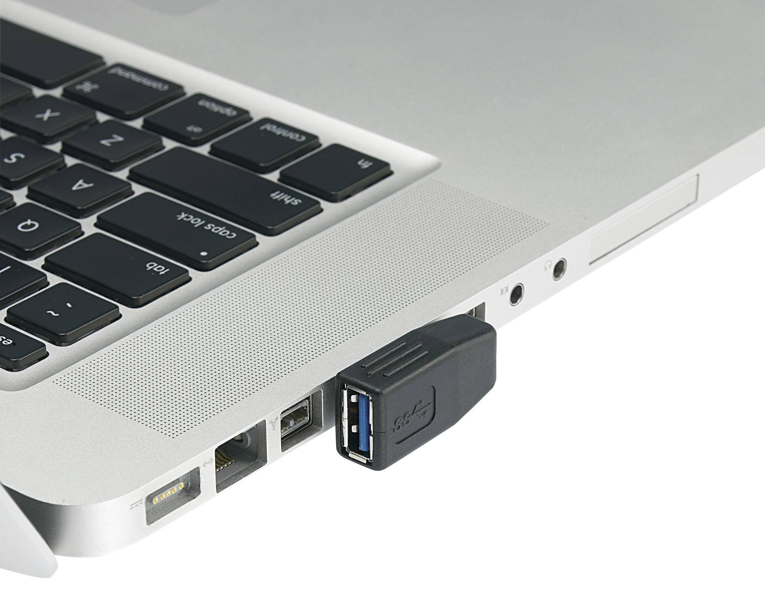 USB adaptér USB 3.0 Renkforce RF-4123944 0 m, čierna