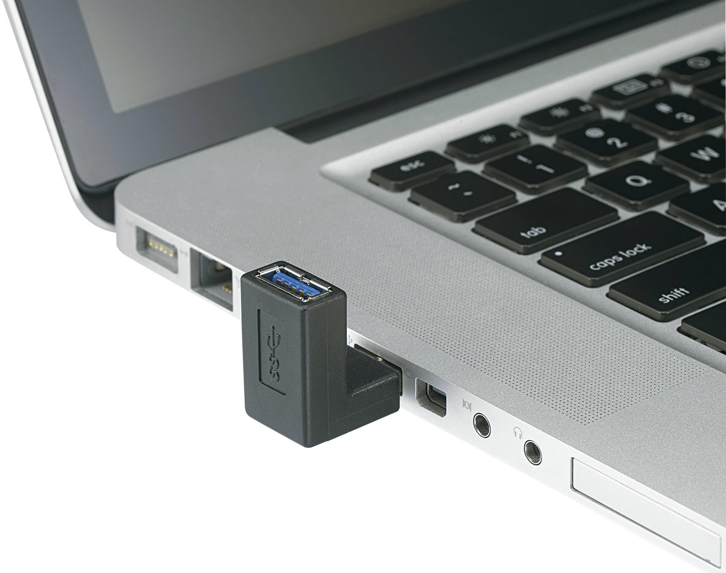 USB adaptér Renkforce 1x USB 3.0 zástrčka ⇔ 1x USB 3.0 zásuvka, černá