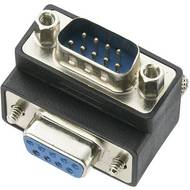 Adaptér D-SUB Digitus, 9-pólový úhlový, zásuvka/zástrčka