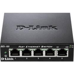 Síťový switch D-Link, DES-105, 5 portů, 100 Mbit/s
