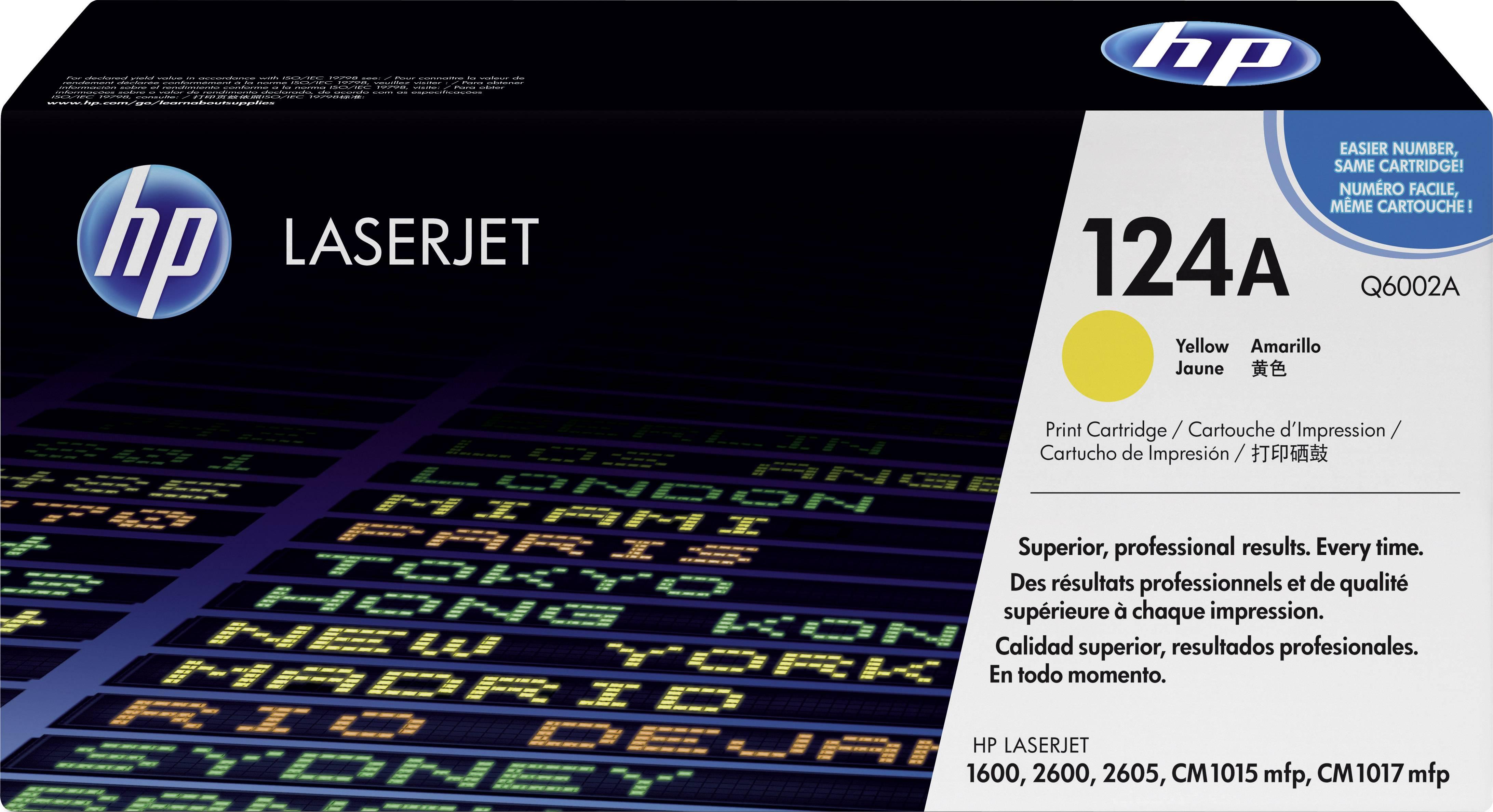 Toner HP 124A Q6002A, žlutá