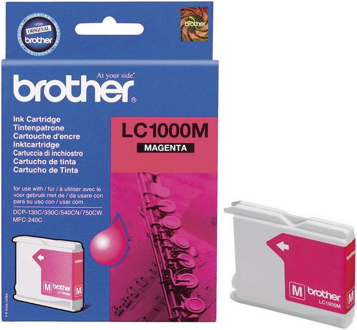 Náplň do tlačiarne Brother LC-1000M LC1000M, purpurová