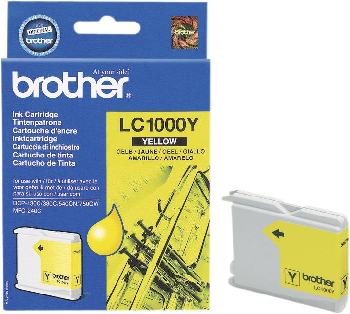 Náplň do tlačiarne Brother LC-1000Y LC1000Y, žltá