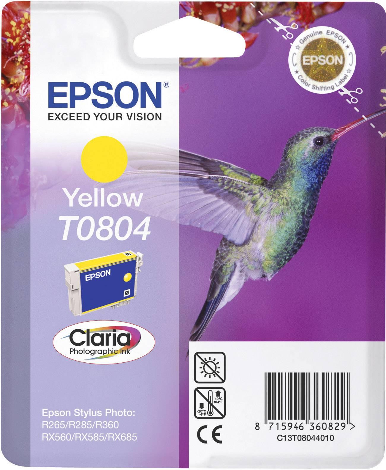 Náplň do tlačiarne Epson T0804 C13T08044011, žltá