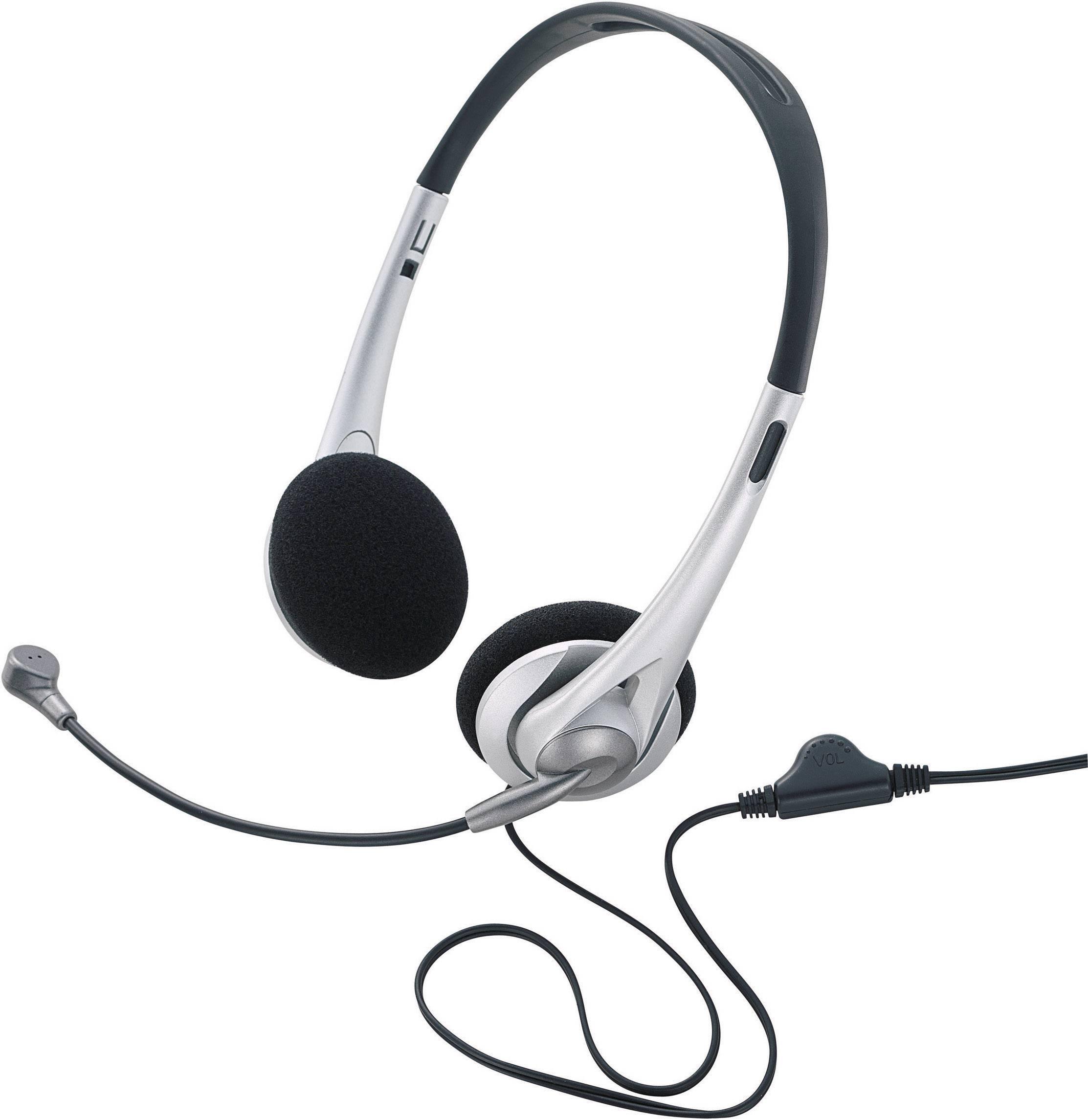 Headset k PC TW-218, čierna/strieborná