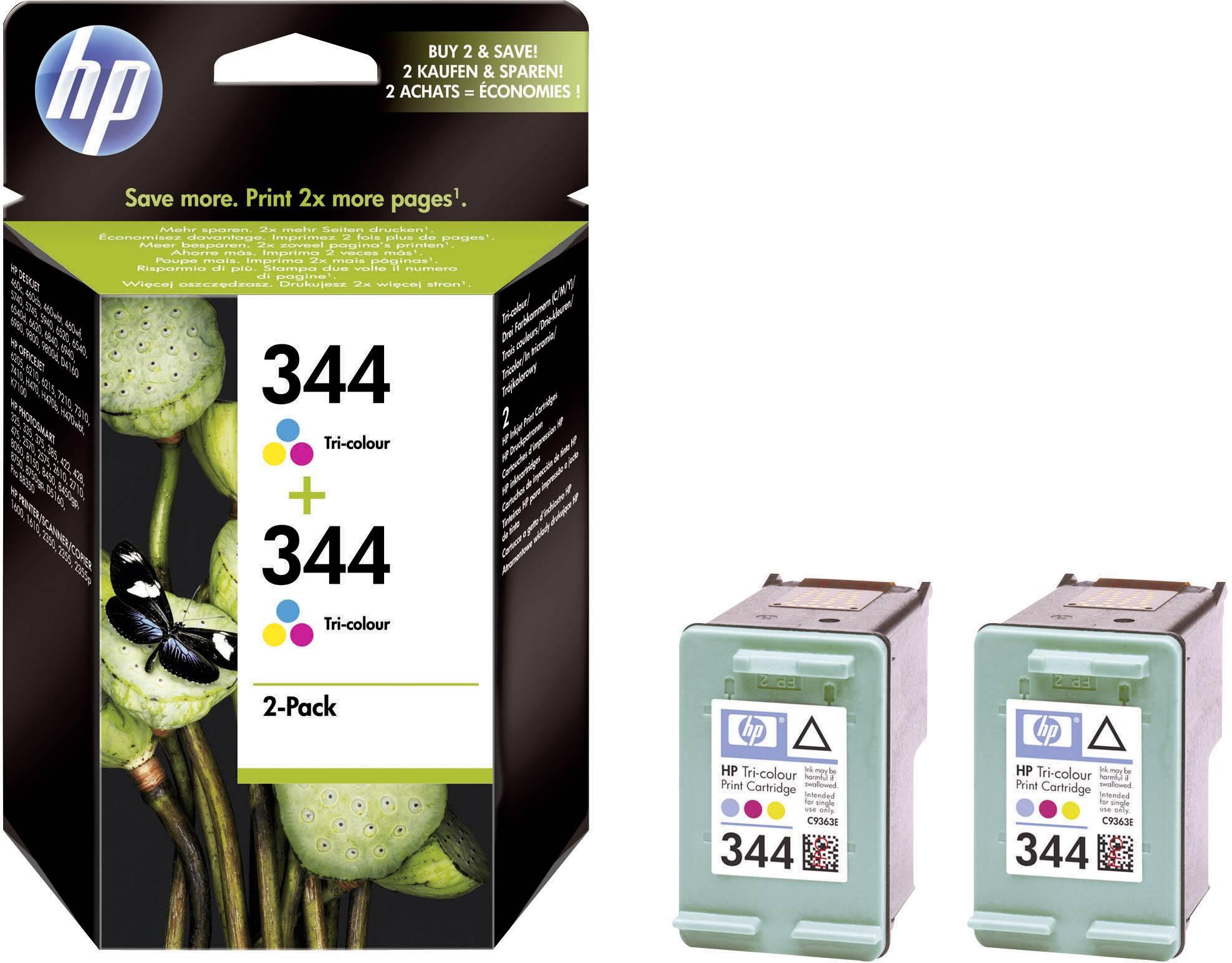 Sada náplní do tlačiarne HP 344 C9505EE, zelenomodrá, purpurová, žltá