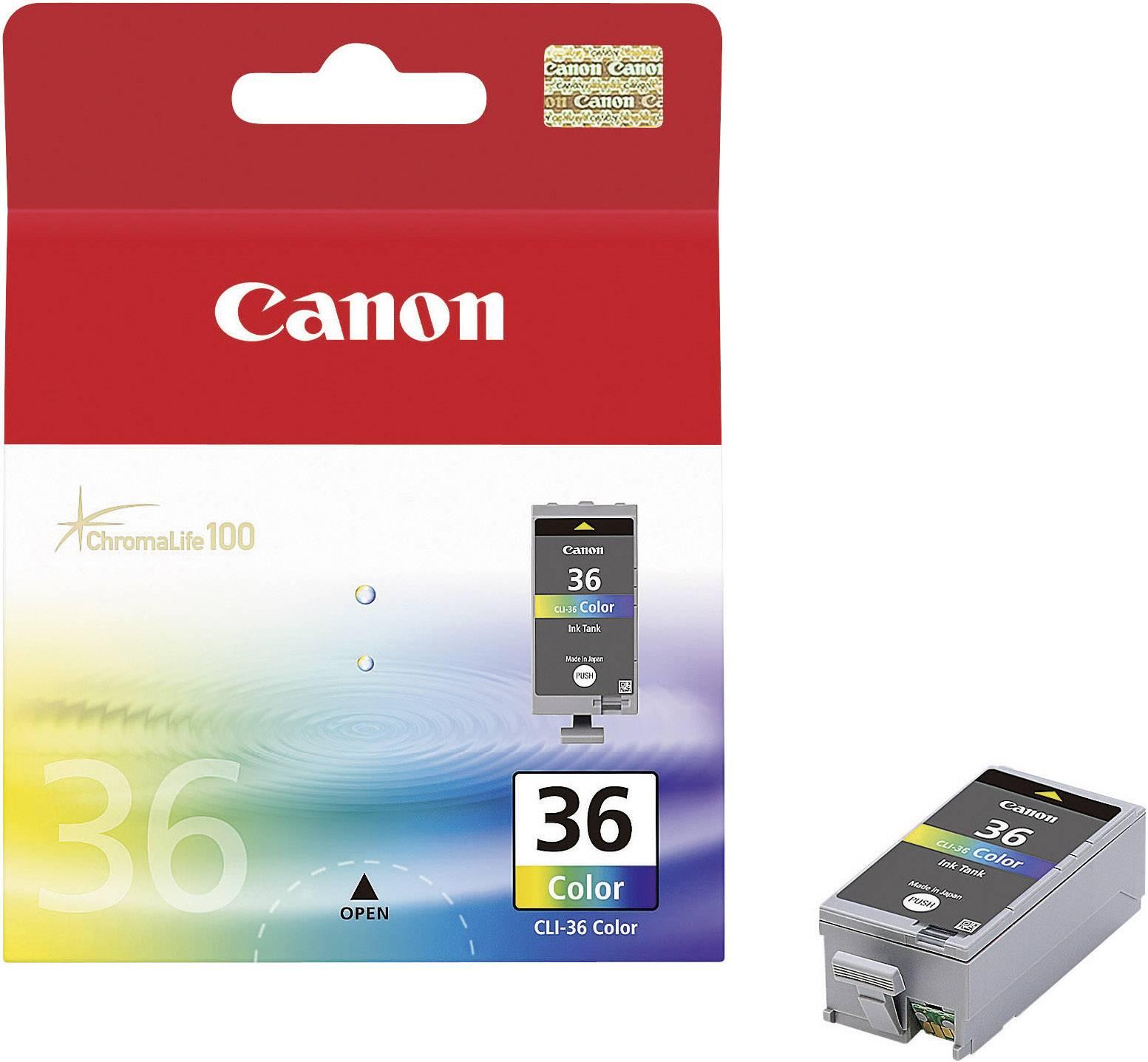 Náplň do tlačiarne Canon CLI-36 1511B001, zelenomodrá, purpurová, žltá