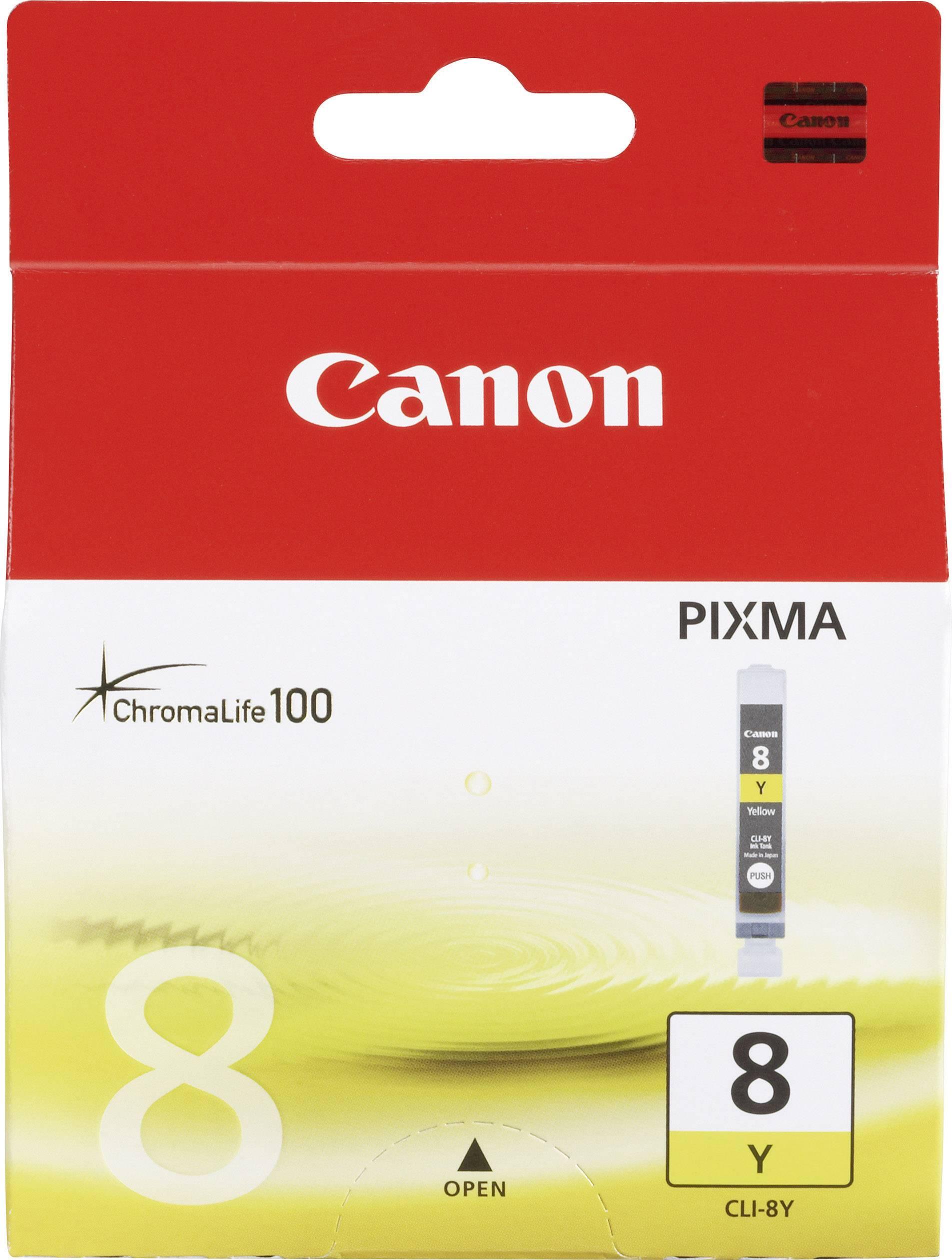 INKOUST CANON CLI-8 Y ŽLUTÝ FOTO-CYAN