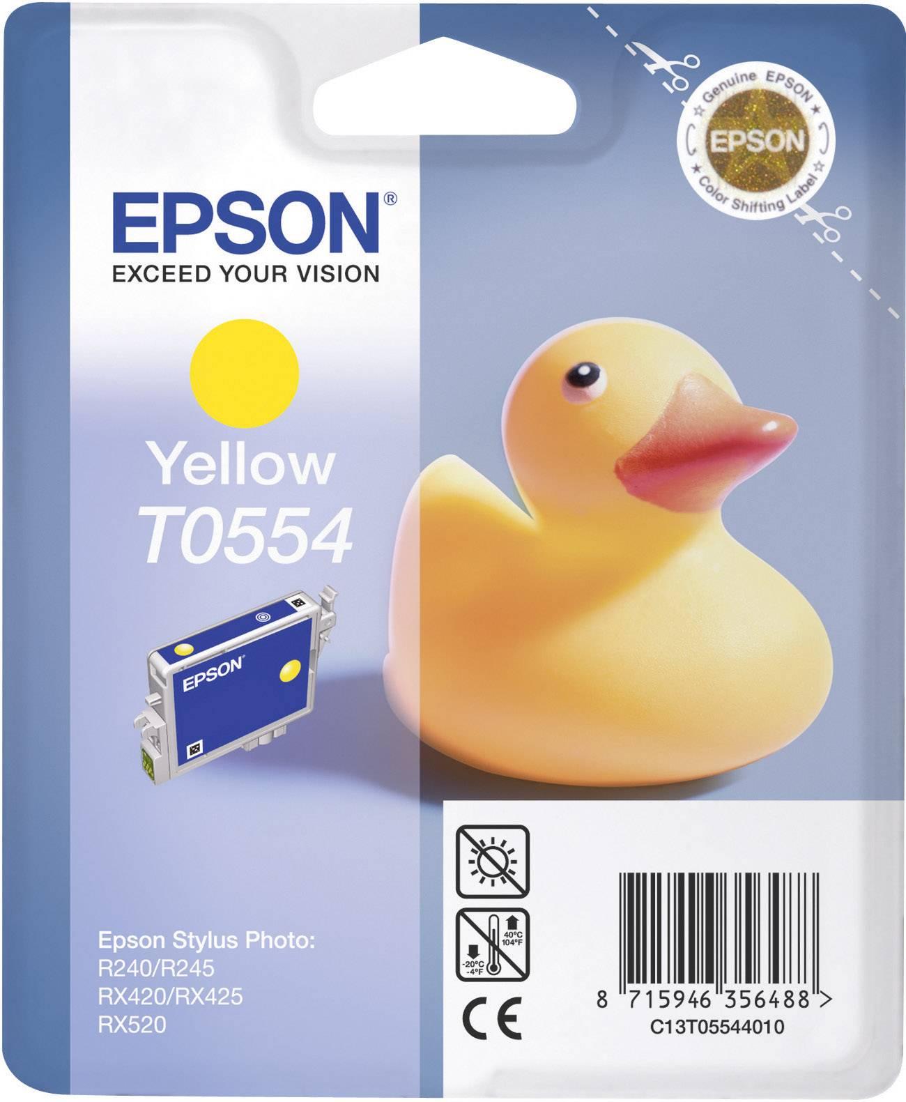 Náplň do tlačiarne Epson T0554 C13T05544010, žltá