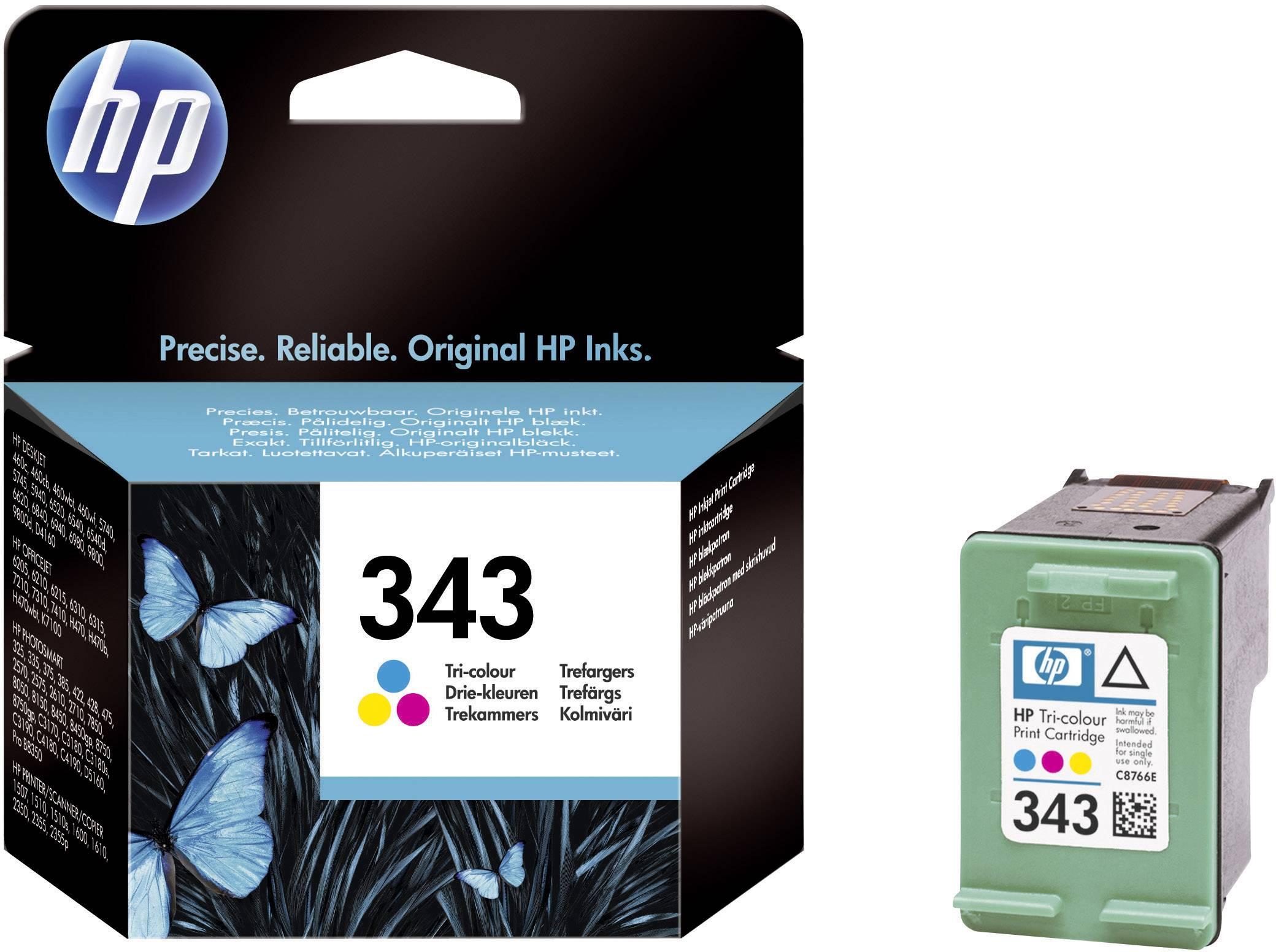 Cartridge do tiskárny HP C8766EE (343), cyanová/magenta/žlutá