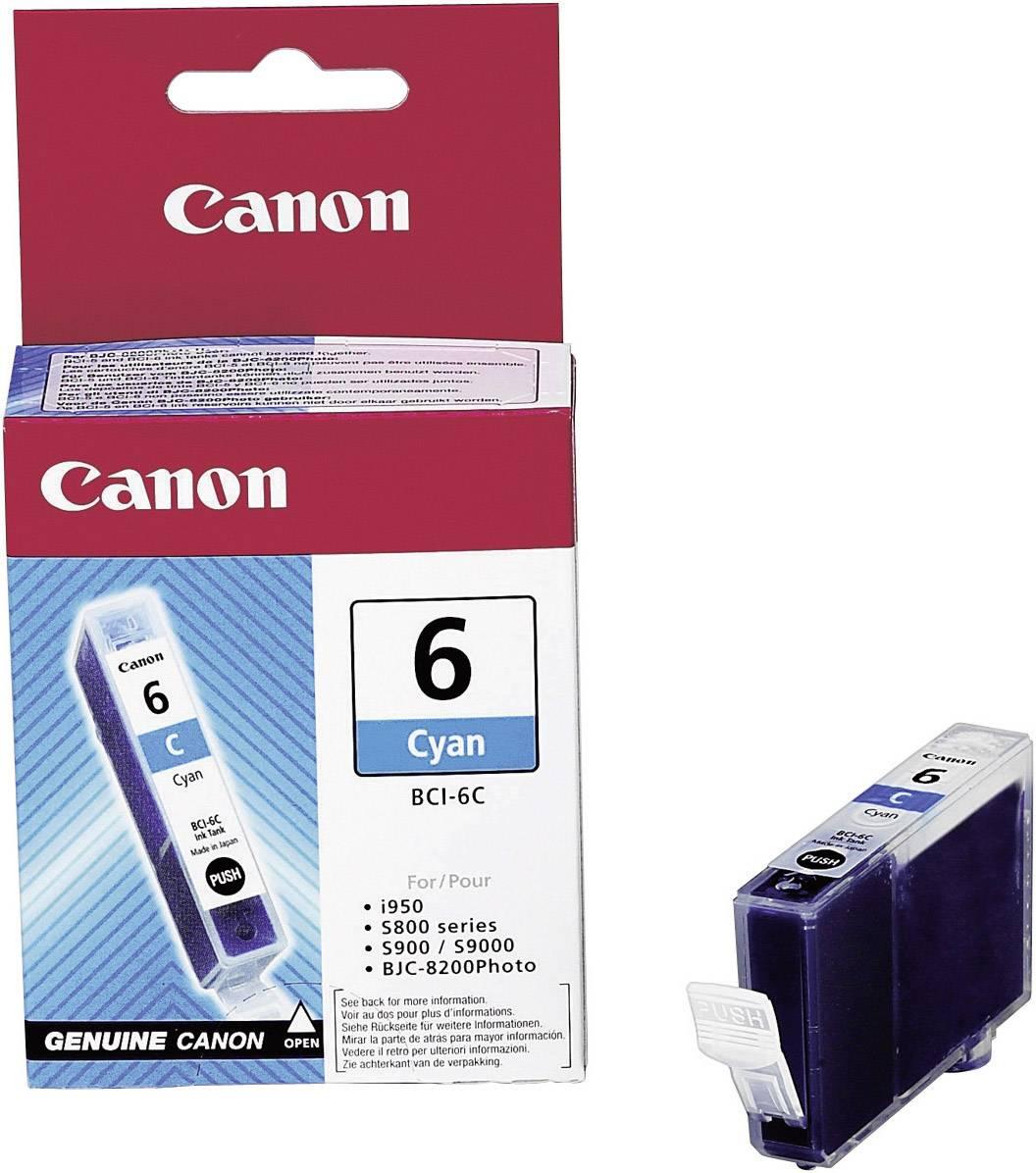 Náplň do tlačiarne Canon BCI-6C 4706A002, zelenomodrá