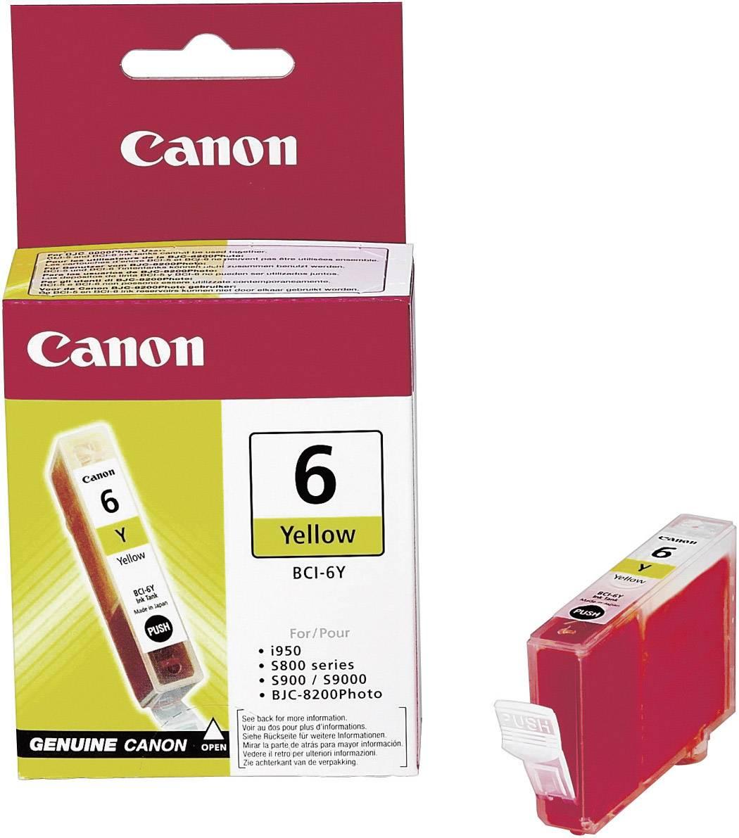 Náplň do tlačiarne Canon BCI-6Y 4708A002, žltá