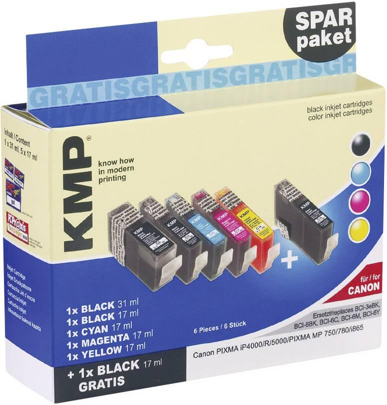 Ink sada náplní do tlačiarne KMP C16V 0957,9585, kompatibilná, čierna, foto čierna, zelenomodrá, purpurová, žltá