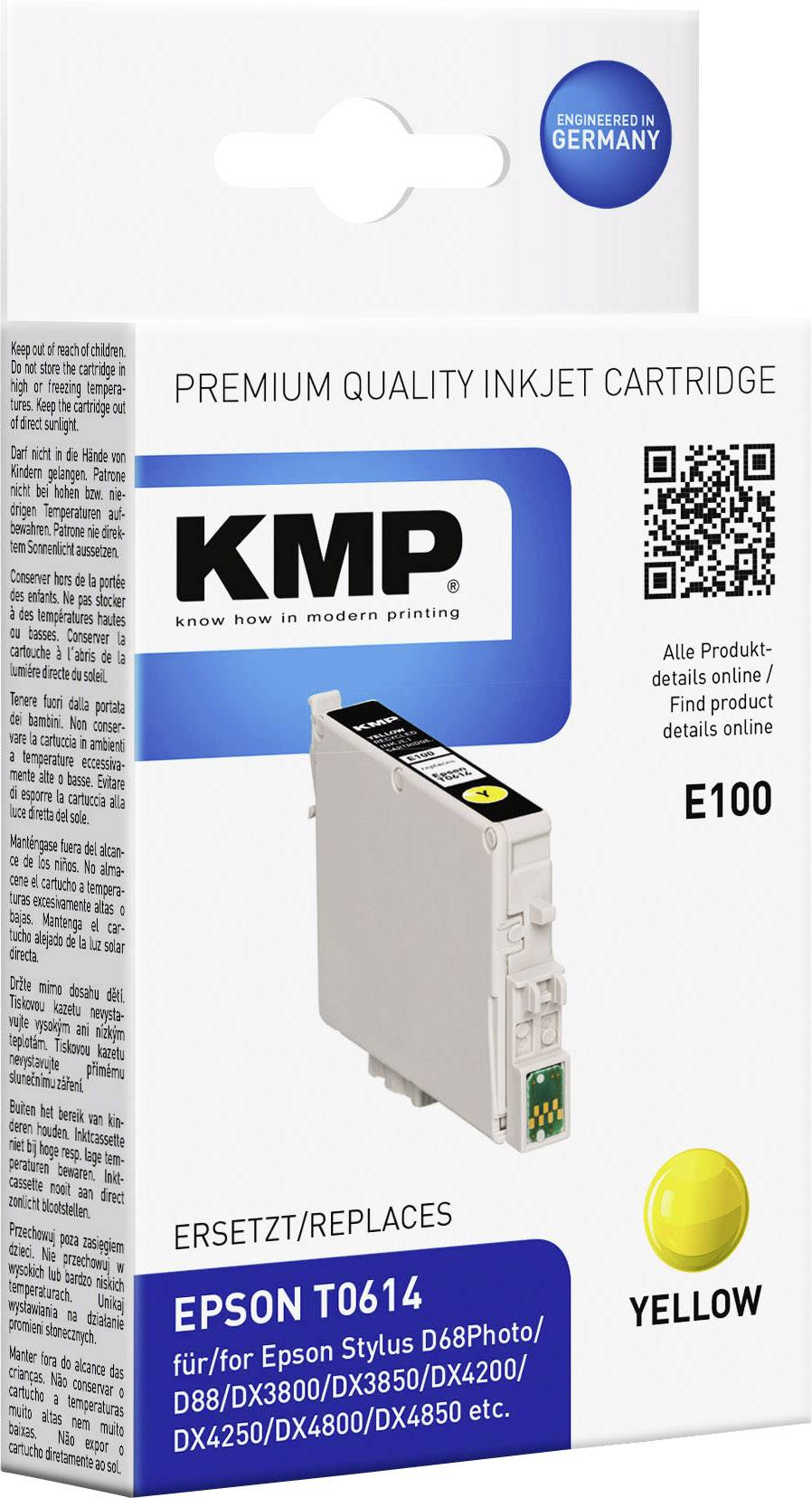 Kompatibilná náplň do tlačiarne KMP E100 1603,0009, žltá