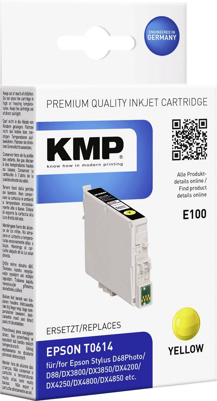 Neoriginální cartridge KMP E100 odpovídá EPSON T061440 žlutá