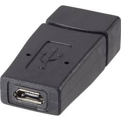 Adaptér USB 2.0 Renkforce [1x USB 2.0 zásuvka A - 1x micro USB 2.0 zásuvka B], černá