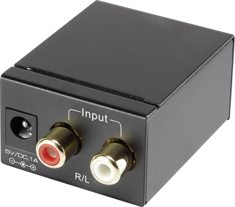 AV konvertor cinch zásuvka ⇒ cinch zásuvka, Toslink zásuvka (ODT) SpeaKa Professional SP-ADC-CTK SP-3956604