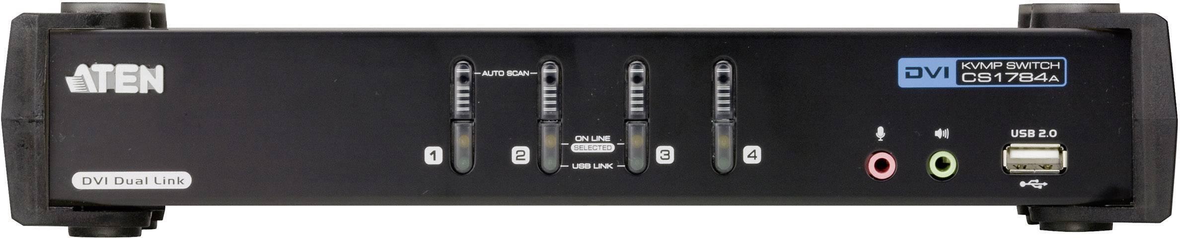 Prepínač KVM ATEN CS1784A-AT-G, s 4 portmi