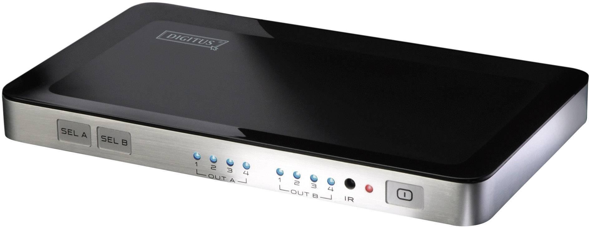 HDMI matrix přepínač Digitus DS-48300, 4 porty, s dálkovým ovládáním