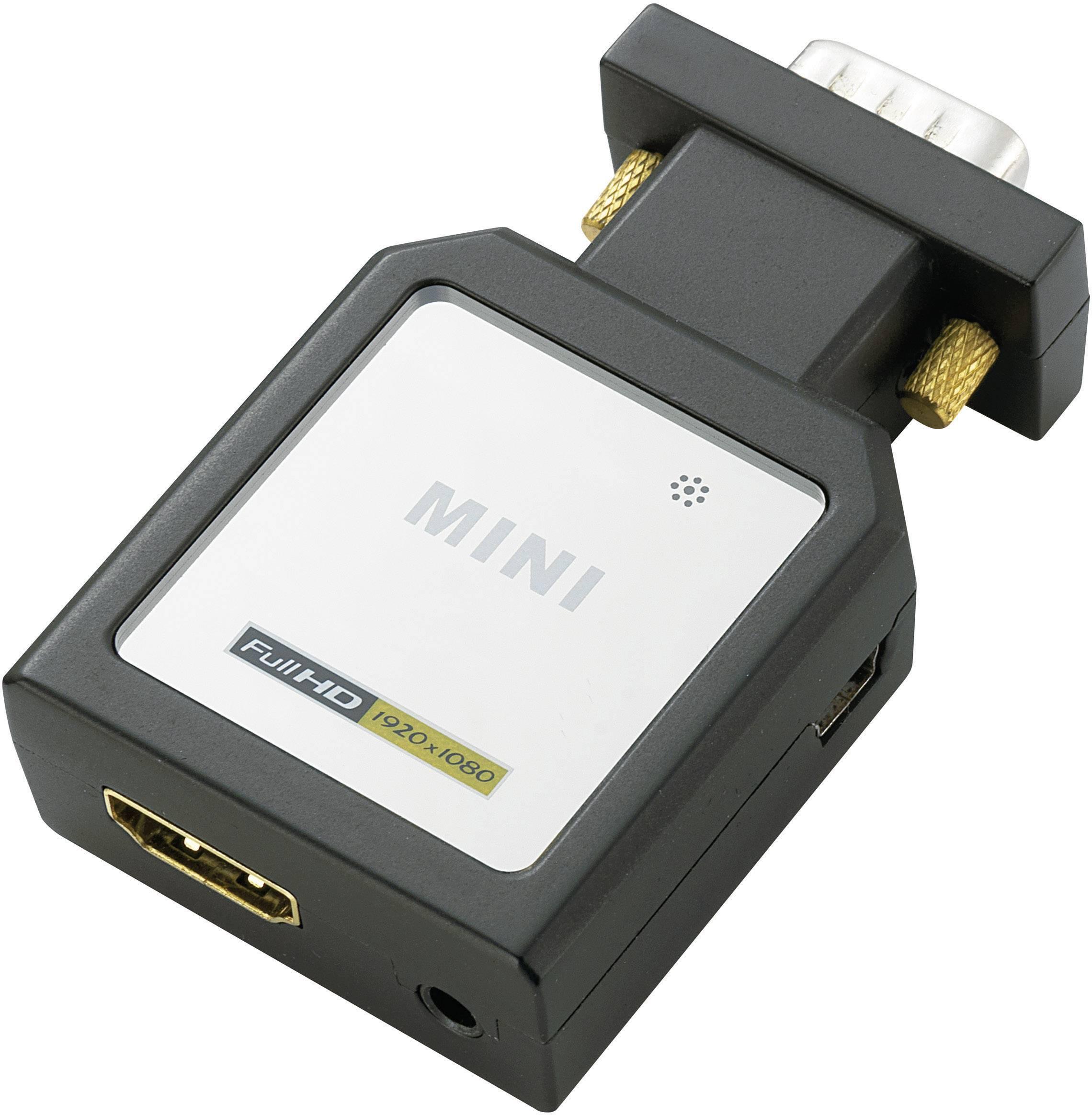 AV adaptér HDMI zásuvka ⇒ VGA zástrčka, jack zásuvka 3,5 mm, Toslink zásuvka (ODT) SpeaKa Professional SP-HD/VGA-YUV SP-3957404