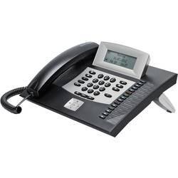 Systémový telefon, ISDN Auerswald COMfortel 1600 konektor na sluchátka, handsfree, dotykový displej podsvícený displej černá, stříbrná