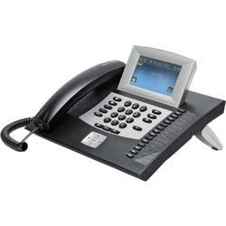 Systémový telefon, ISDN Auerswald COMfortel 2600 záznamník, konektor na sluchátka dotykový displej černá, stříbrná
