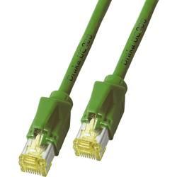Sieťový prepojovací kábel RJ45 DRAKA K8560GN.1, CAT 6A, S/FTP, 1.00 m, zelená