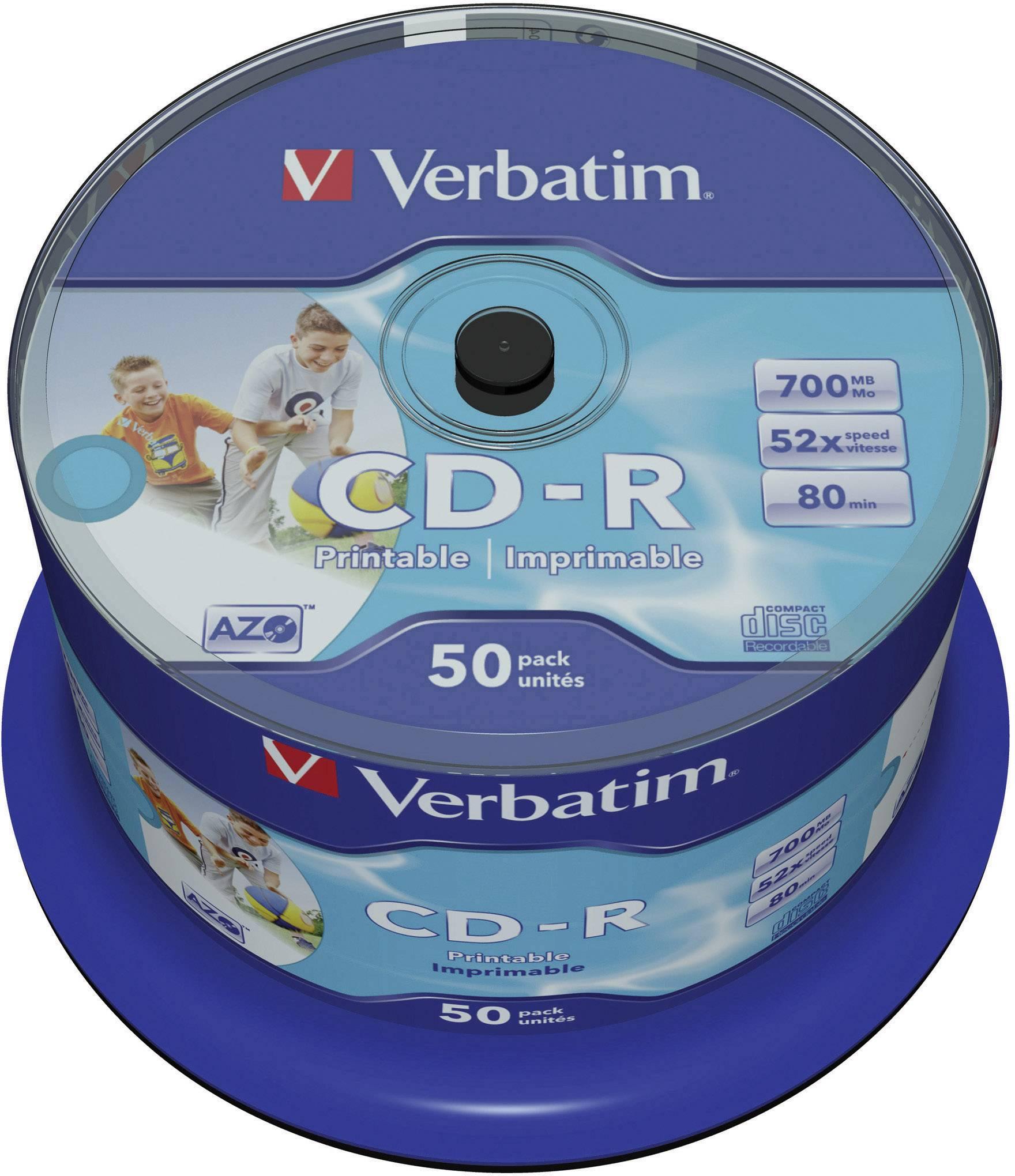 Verbatim CD-R80 700MB 52X 50 ks SP PRINT