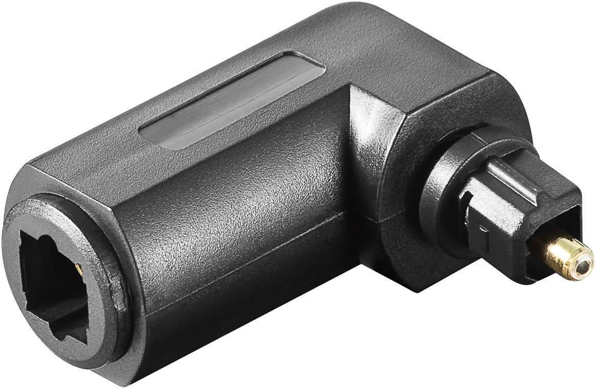 Toslink digitálny audio adaptér Goobay 11925, čierna