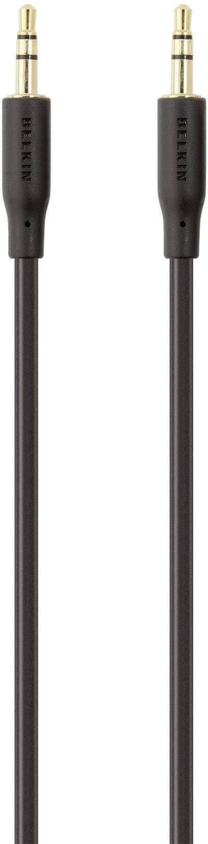 Jack audio prepojovací kábel Belkin F3Y117bt2M, 2 m, čierna