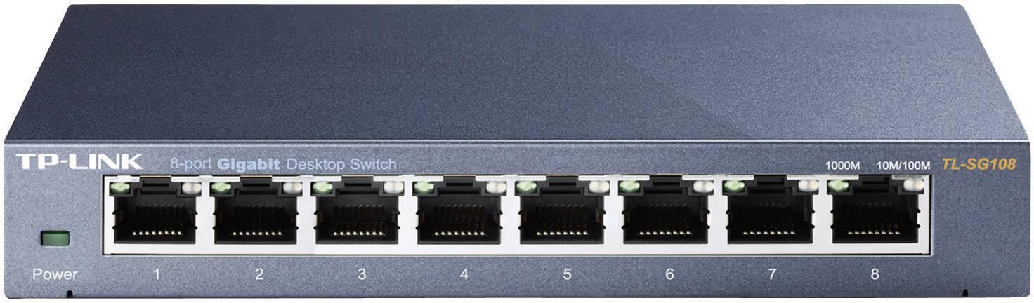 Sieťový switch RJ45 TP-LINK TL-SG108 V3, 8 portov, 1 Gbit/s