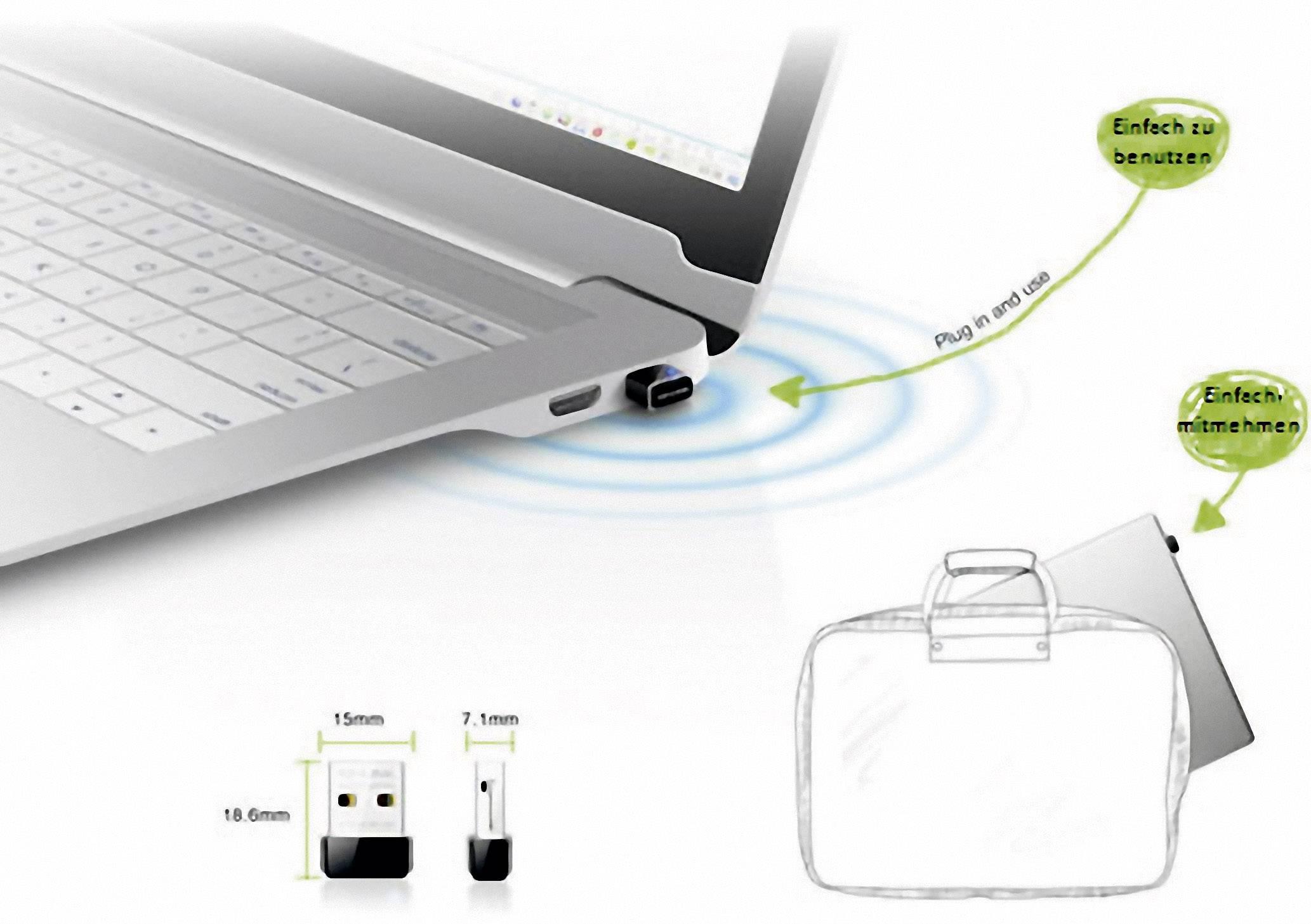 USB 2.0 Wi-Fi adaptér TP-LINK TL-WN725N, 150 Mbit/s