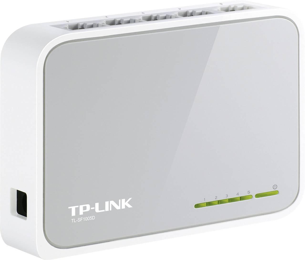 Sieťový switch RJ45 TP-LINK TL-SF1005D, s 5 portmi, 100 Mbit/s