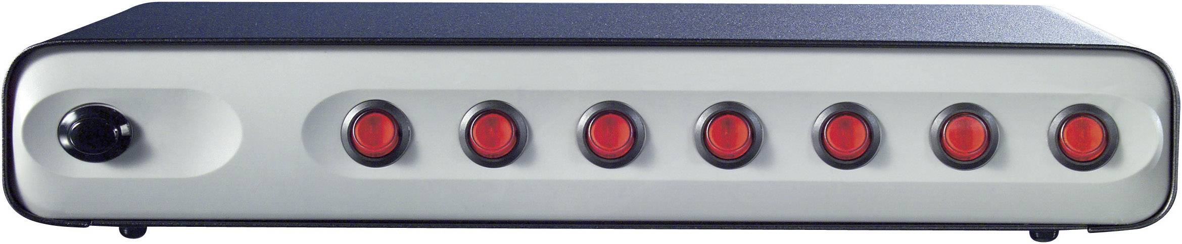 Zásuvková lišta s vypínačom, počet zásuviek 7 Boos RC7 998662, 1.50 m, sivá, čierna