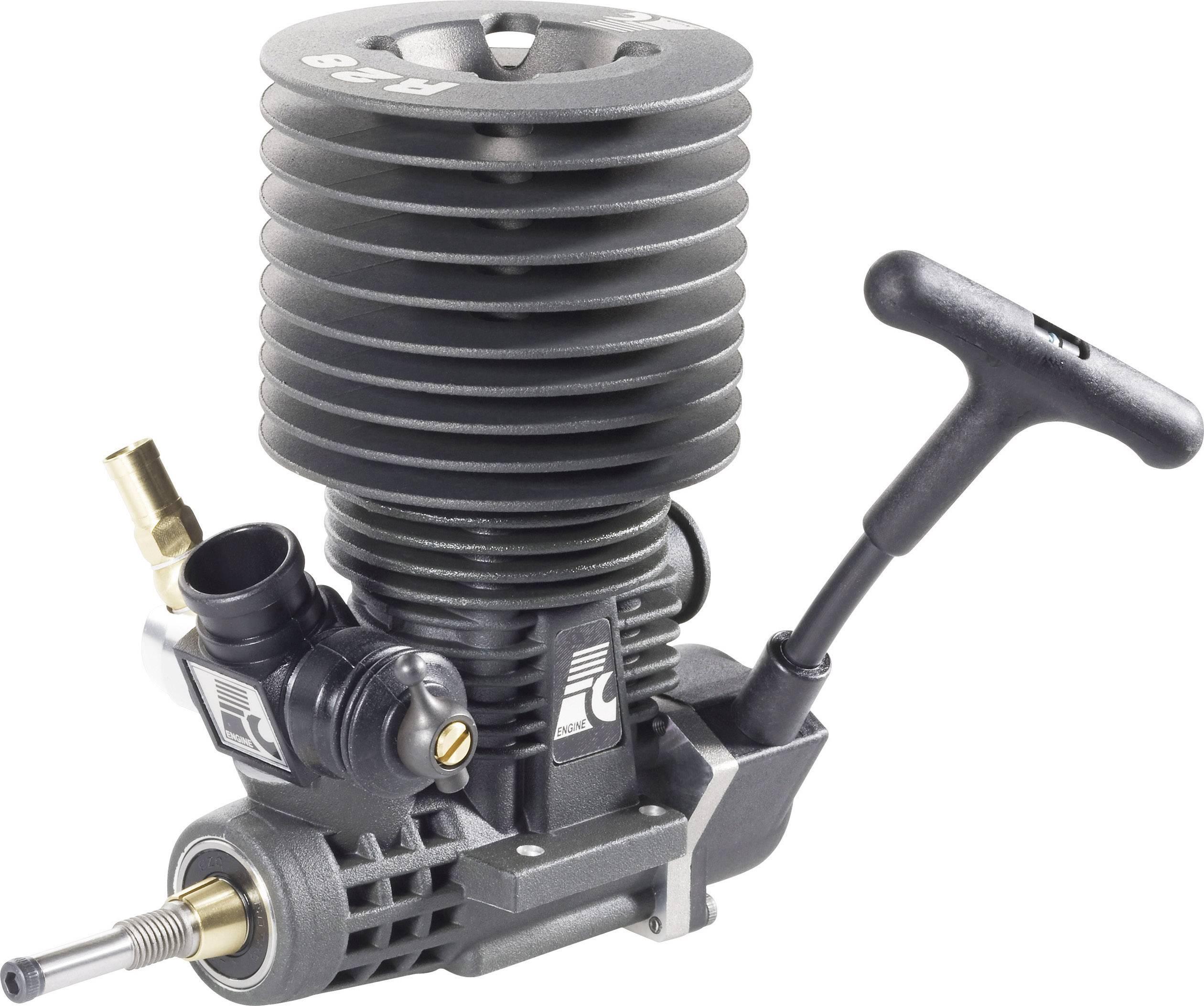 Spalovací motor Force Engine 28 Black, 4,58 cm3, 2,15 kW, zadní výfuk